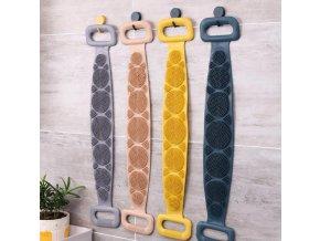 Silikonový sprchový pás na mytí zad (Barva Fialová)
