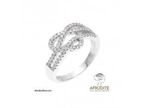 Stříbrný prsten značky Afrodite Ag 925 (Velikost prstenu 59)