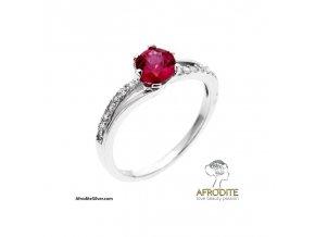 Stříbrný prsten značky Afrodite Ag 925 (Velikost prstenu 60)