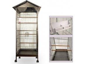 3468 velka ptaci klec voliera na koleckach pro snadnou manipulaci