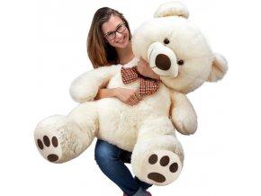 800 velky kremovy plysovy medved 100 cm xxl plysak
