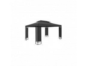 3354 zahradni pavilon altan elda 3 x 4 m tmave sedy