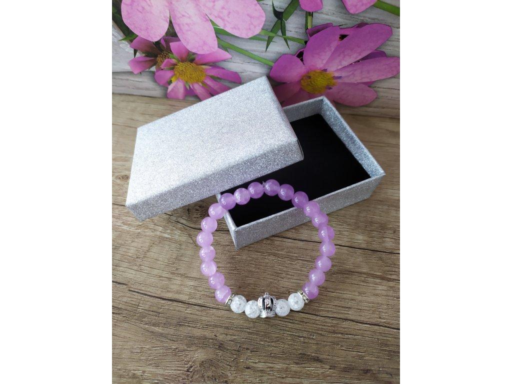 Královský fialový křišťálový náramek