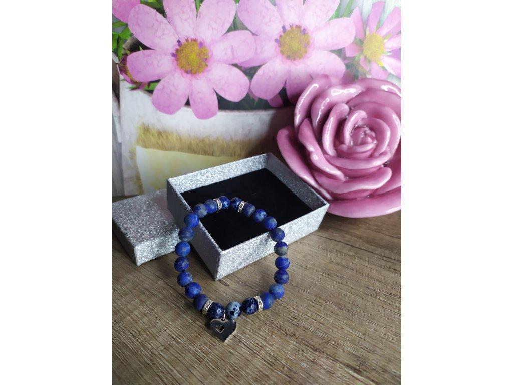 Náramek Lapis Lazulit modrý