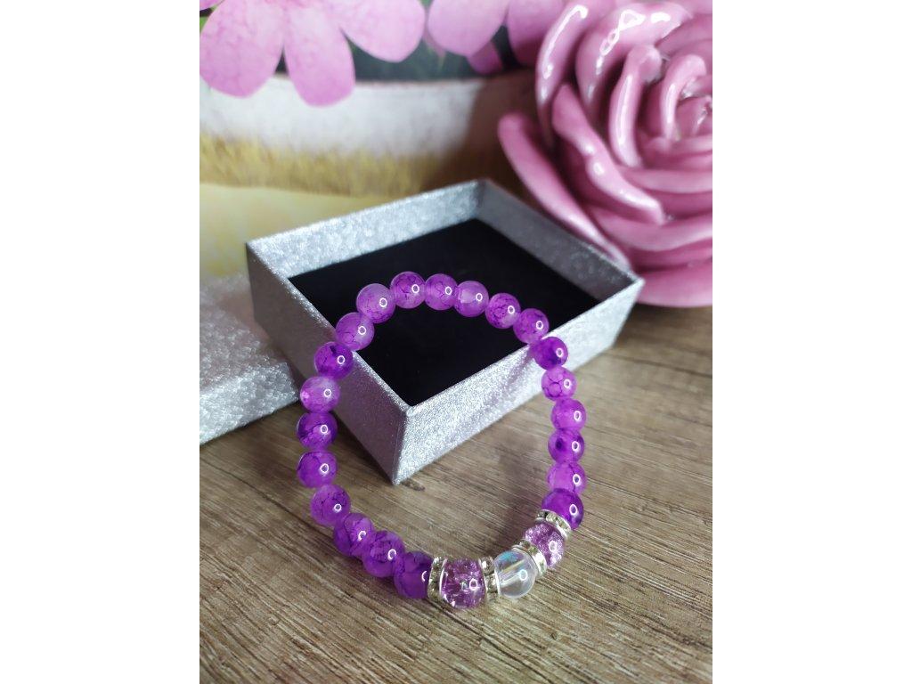Náramek fialový elegant