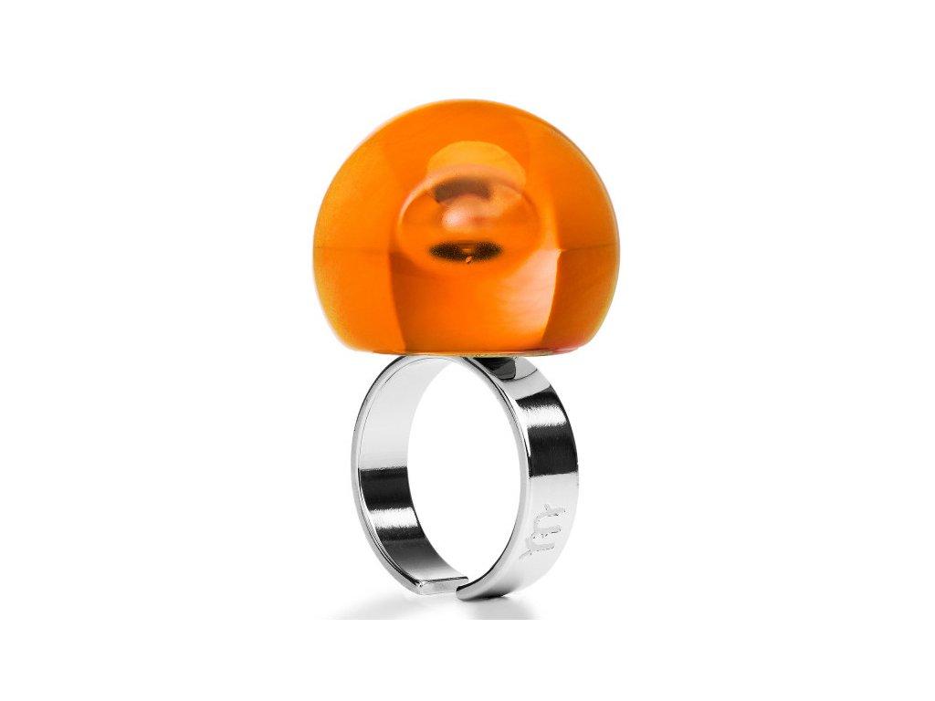 Ballsmania Oranžový průhledný prsten ARANCIO FIAMMA