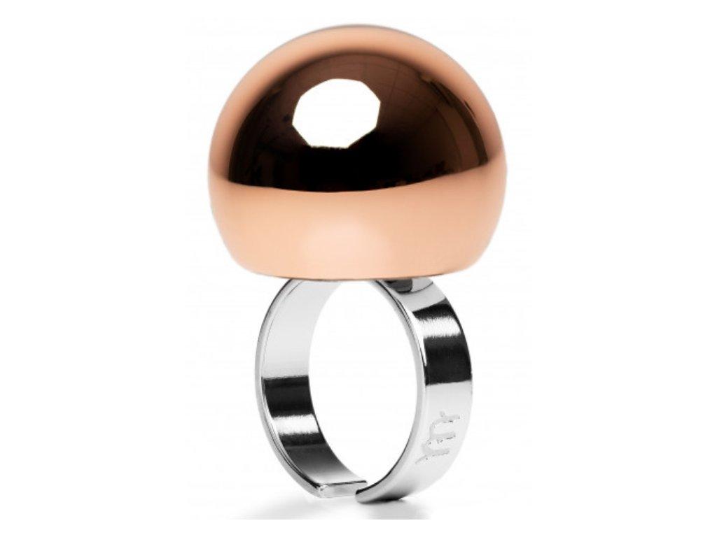 Ballsmania Růžově zlatý metalický lesklý prsten MIRROR GOLD ROSA