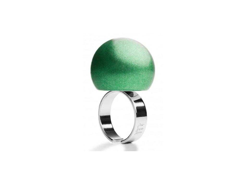 Ballsmania Mátově zelený metalický prsten VERDE MENTA