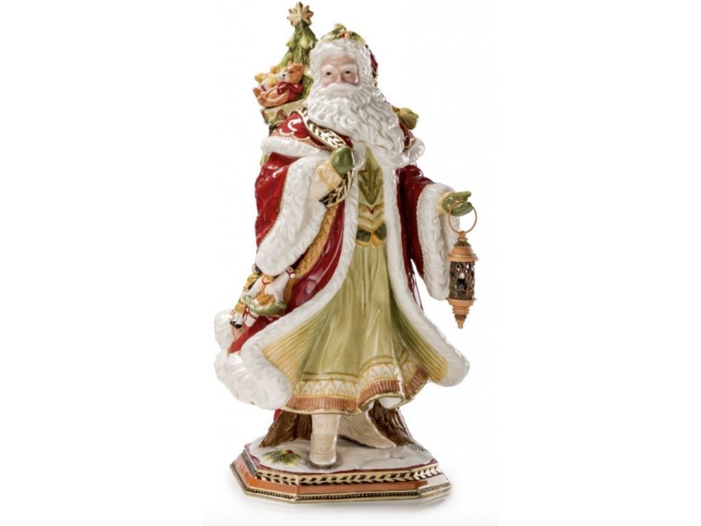 Fitz & Floyd CARDINAL CHRISTMAS Santa nese dárky 50 cm