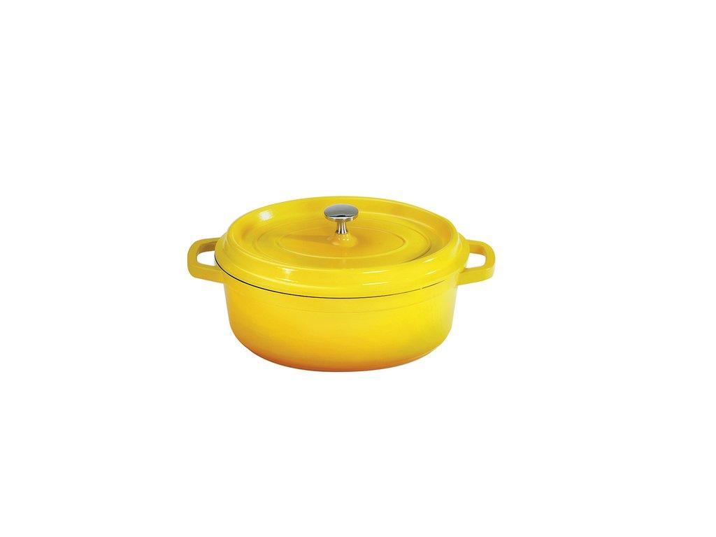GET Heiss Induktion Žlutý oválný pekáč s poklicí