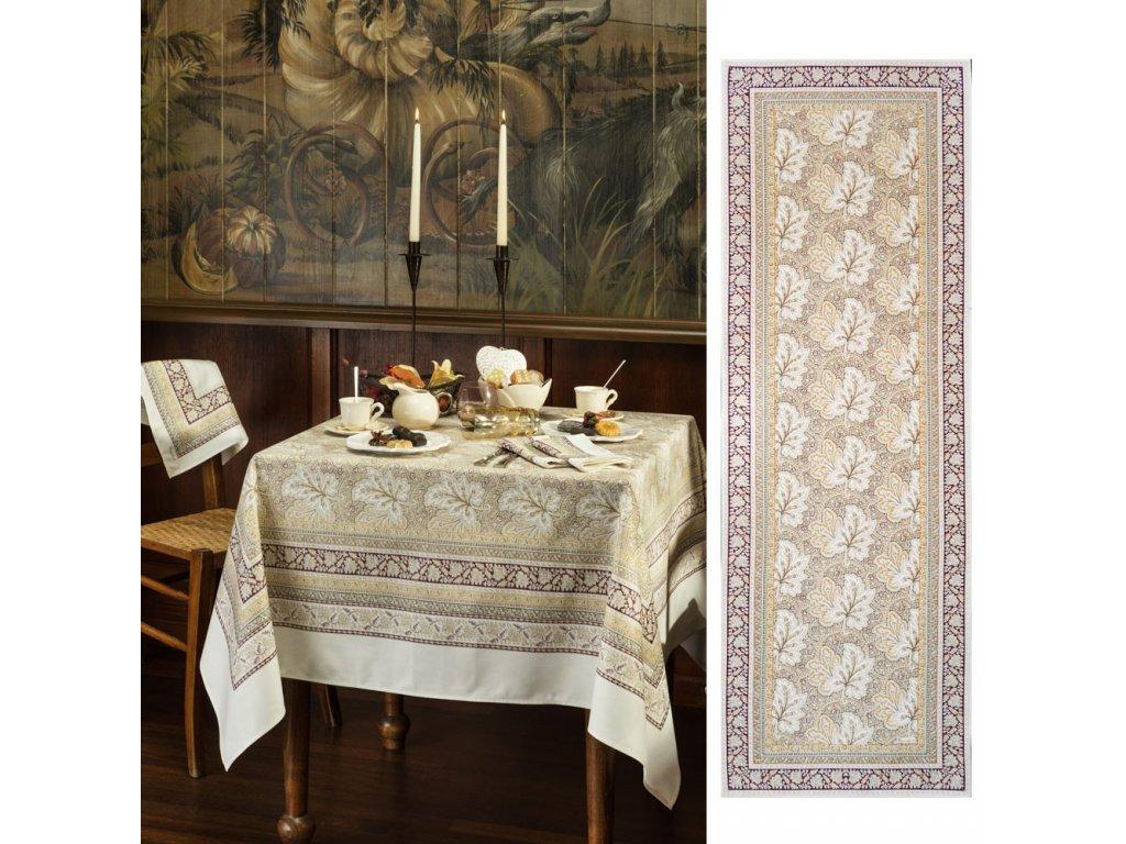 Beauvillé Feuilles de Vigne béžový běhoun 50x150 cm