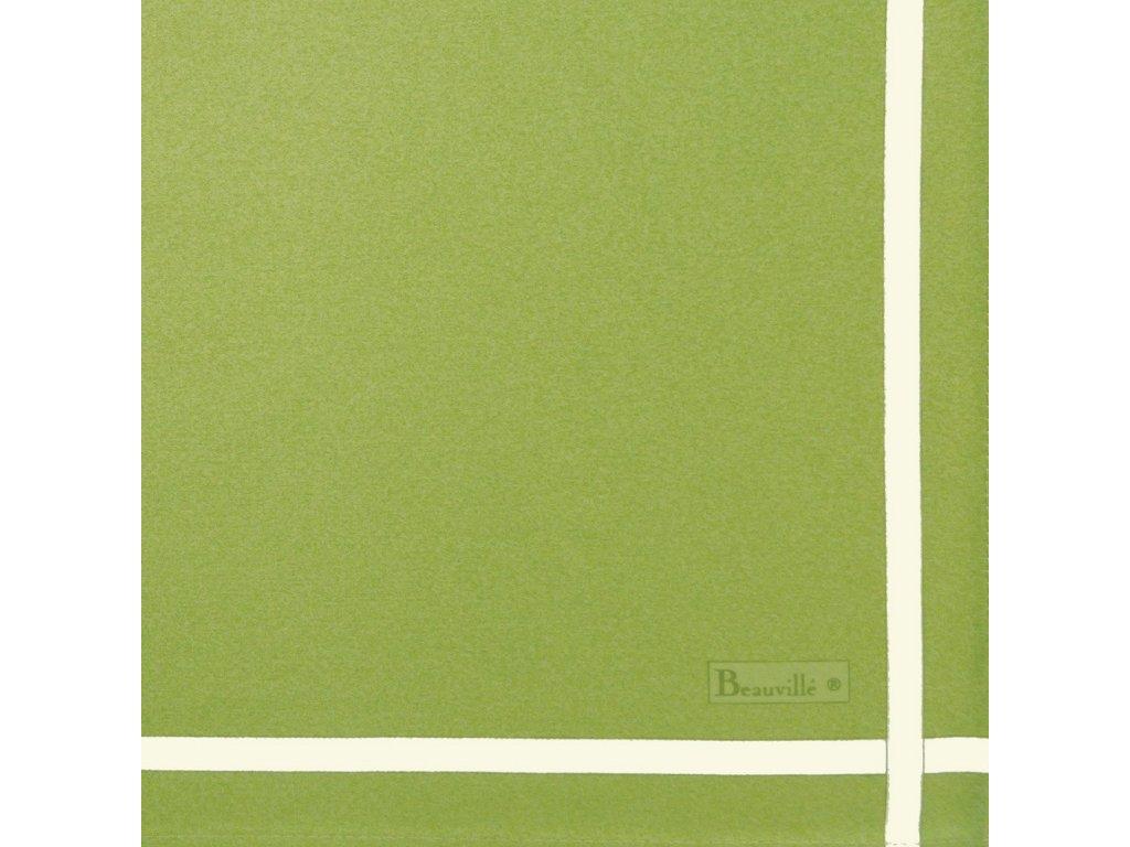 Beauvillé Bicolore zelený ubrousek 52x52 cm