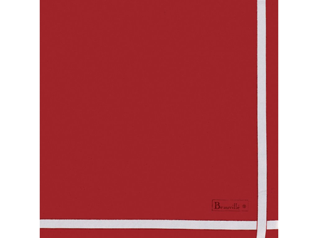 Beauvillé Bicolore červený ubrousek 52x52 cm sada 4 kusy