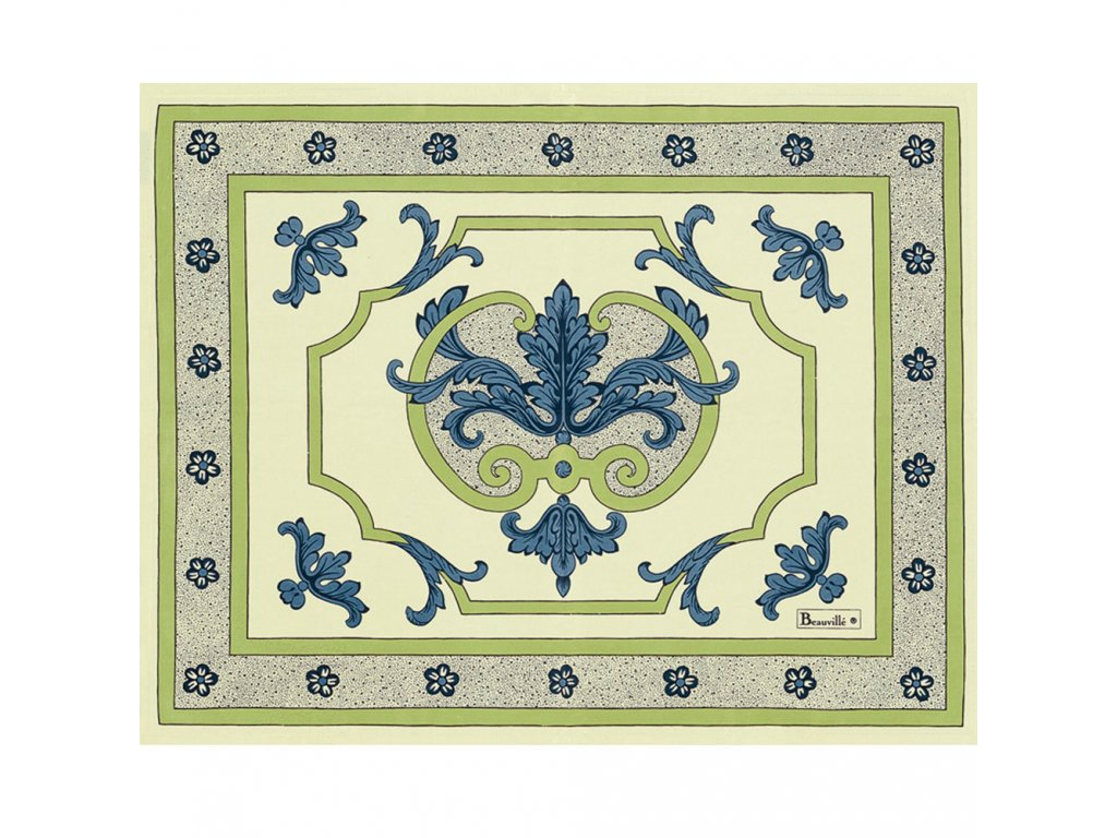 Beauvillé Trianon modrá prostírka 40x50 cm
