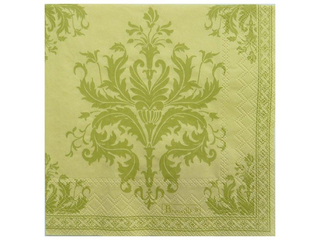 Beauvillé Topkapi zelený papírový ubrousek 33x33 cm