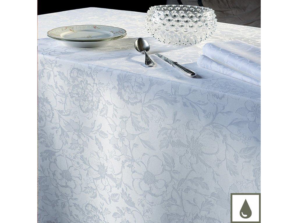 Garnier Thiebaut MILLE CHARMES Blanc Kulatý ubrus 175 cm