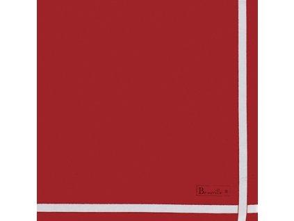 Beauvillé Bicolore červený ubrousek 52x52 cm