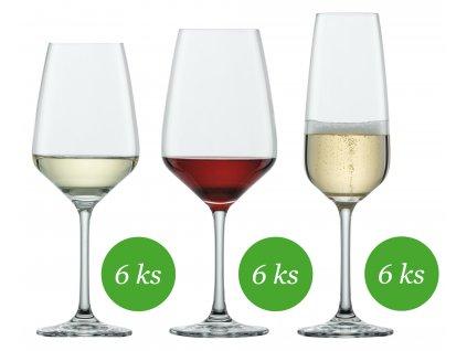 Schott Zwiesel Taste Základní sada sklenic 18 kusů