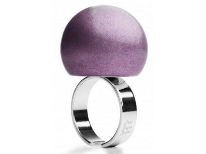 Ballsmania Fialový metalický prsten VIOLA BACCO METAL