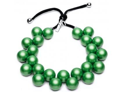 Ballsmania Mátově zelené metalické korále VERDE MENTA