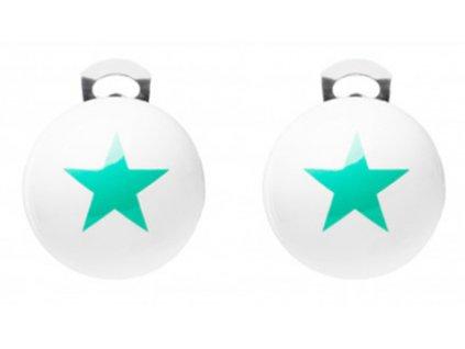 Ballsmania Klipsy STARS BIANCO VERDE ELETTRICO
