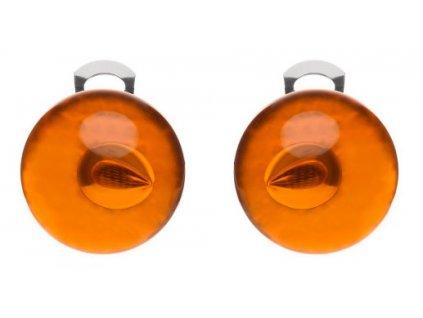 Ballsmania Oranžové průhledné klipsy ARANCIO FIAMMA