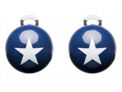 Ballsmania Modré klipsy s bílou hvězdou STARS BLU MARLIN