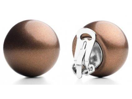 Ballsmania Metalické náušnice BRONZO METAL