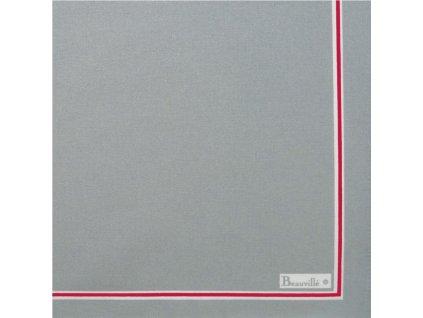 Beauvillé Potager šedý ubrousek 45x45 cm