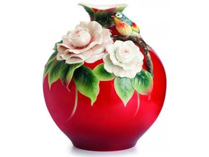 Franz Designer Gallery Collection Camellia & Willow Warbler Váza