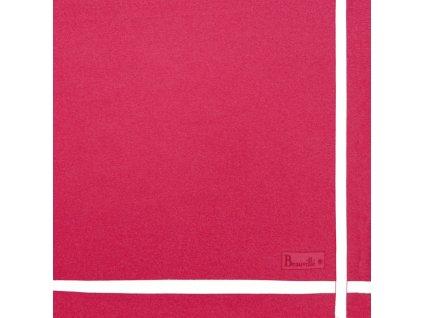 Beauvillé Bicolore růžový ubrousek 52x52 cm