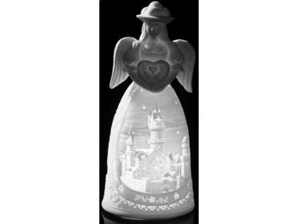 Lamart EFFETO LUCE LED svícen Anděl 15 cm