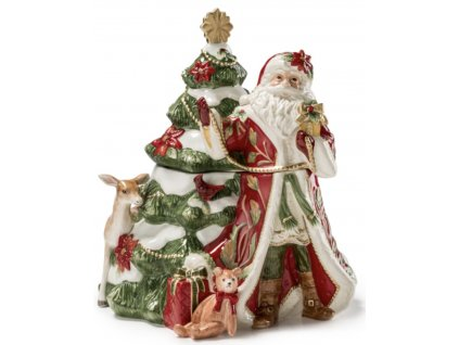 Fitz & Floyd CARDINAL CHRISTMAS Dóza Santa 30 cm