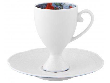 Vista Alegre Duality Kávový šálek s podšálkem, sada 4 kusy