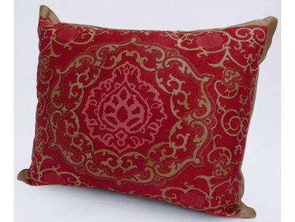 Beauvillé Palazzo červený povlak na polštář