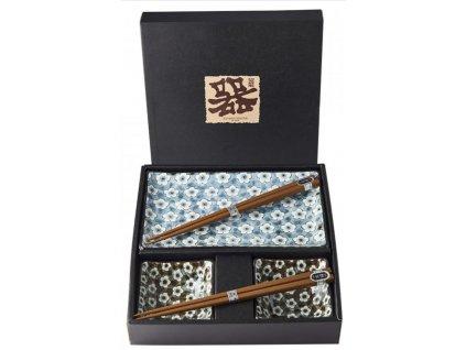 Made In Japan Giftware Navy & White UME Design Sushi sada 6 kusů
