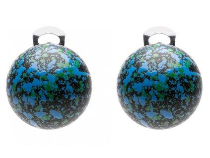 O154POP Orecchini PopBalls #BallsMania by MirtaBijoux Colore 001 Nera Pioggia BluZaffiro&VerdeKelly