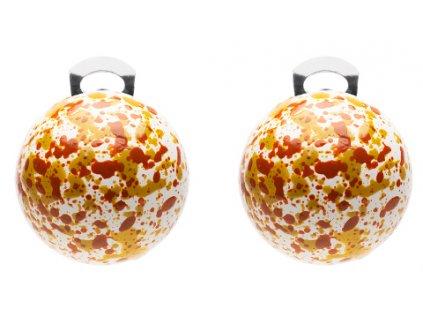 O154POP Orecchini PopBalls #BallsMania by MirtaBijoux Colore 003 bianca pioggia GoldenOlive&SpiceRoute
