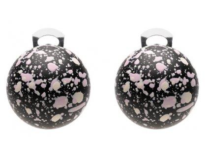 O154POP Orecchini PopBalls #BallsMania by MirtaBijoux Colore 002 Nera pioggia Malva&Vaniglia
