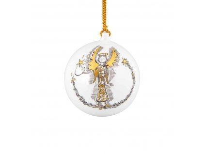 0036436 eu chasing stars bola de natal anjo com estrela