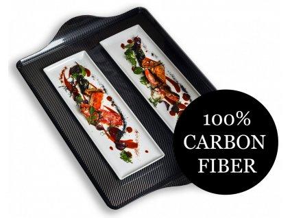 Mepra CARBONIO karbonový podnos 72 x 50 cm