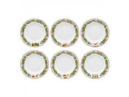 0004244 rm christmas magic conjunto 6 pratos sopa