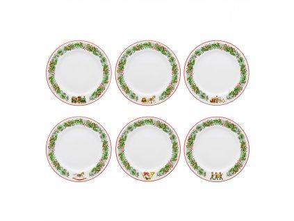 0004245 rm christmas magic conjunto 6 pratos sobremesa