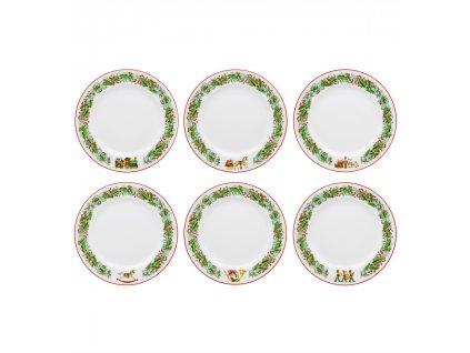 0004246 rm christmas magic conjunto 6 pratos doce