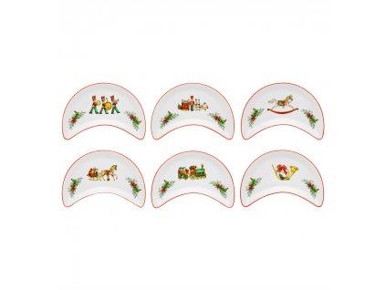0004248 rm christmas magic conjunto 6 pratos salada