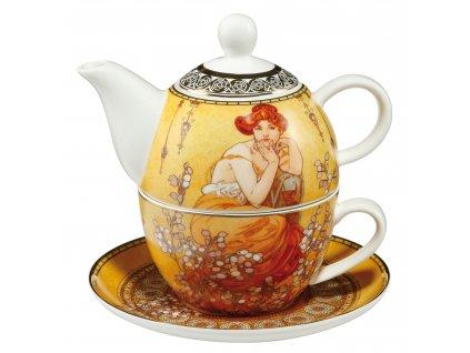 Goebel Alfons Mucha Čaj pro jednoho Topaz