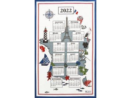 torchon calendrier douce france 2022