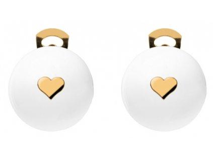 O154SYM #BallsMania by MirtaBijoux SymBalls Bianco Cuore Oro