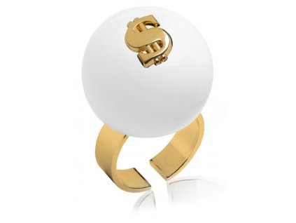 A100SYM #BallsMania by MirtaBijoux SymBalls Bianco Dollaro Oro