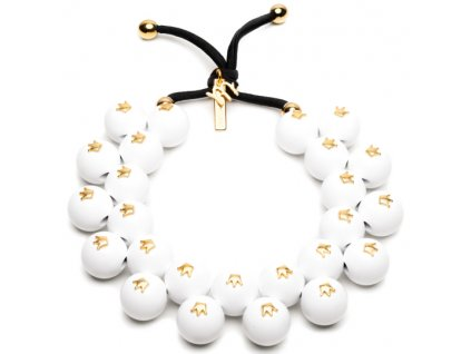C206SYM #BallsMania by MirtaBijoux SymBalls Bianco Corona Oro
